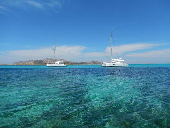 Gitta in barca Isola Asinara Sardegna