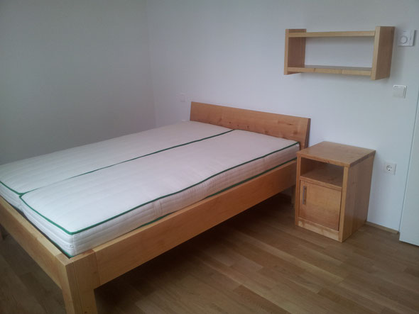 Doppelbett Erle massiv