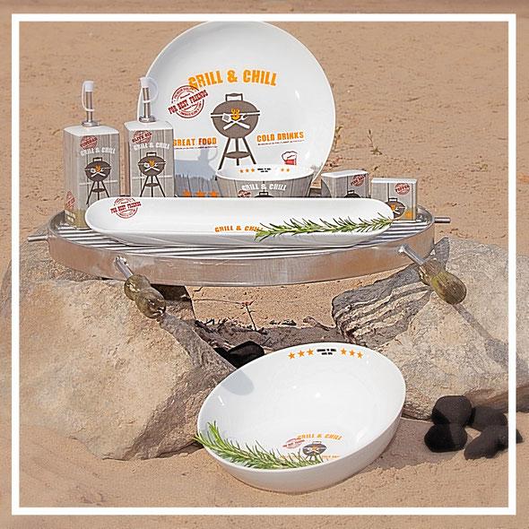 Grillgeschirr und Grilldekoration - Geschenkideen für Männer von PPD