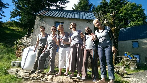 La fine équipe des Compost'..elles...joie de vivre..!