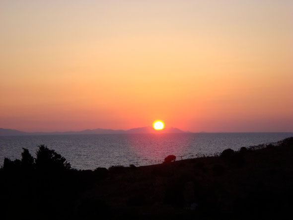 Sonnenuntergang im Limoncafe