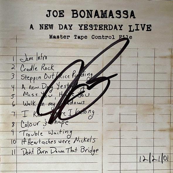 Autograph Joe Bonamassa Autogram