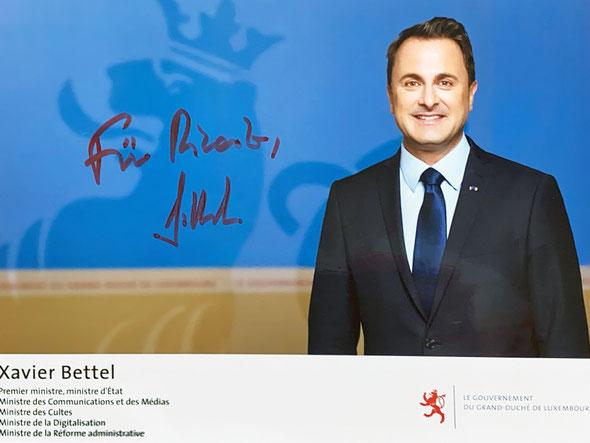 Autograph Xavier Bettel Autogramm