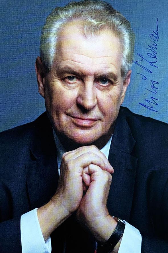 Milos Zeman Autograph Autogramm
