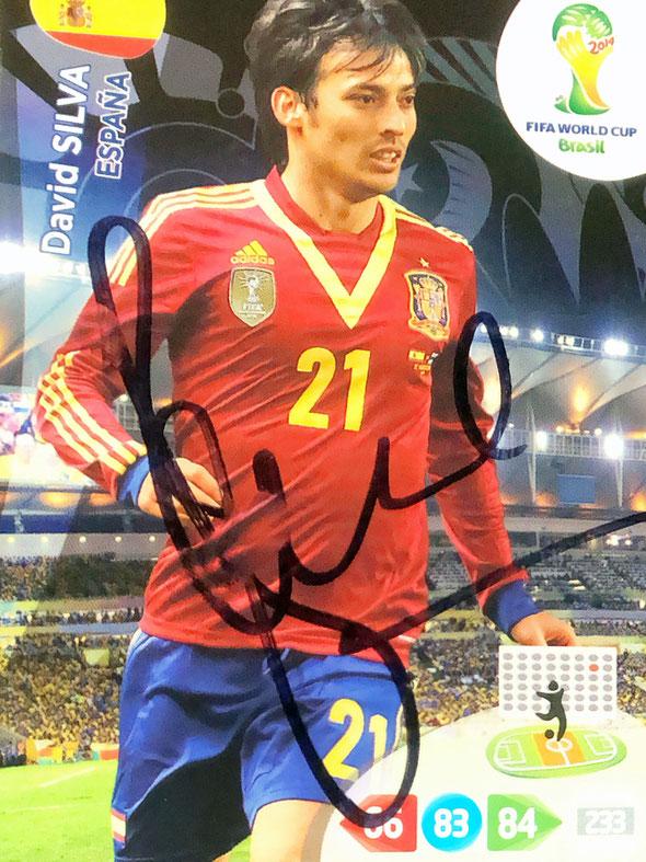 Autograph David Silva Autogramm