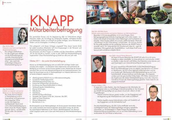 Logistix - Mitarbeiterzeitung KNAPP AG Q4 2012