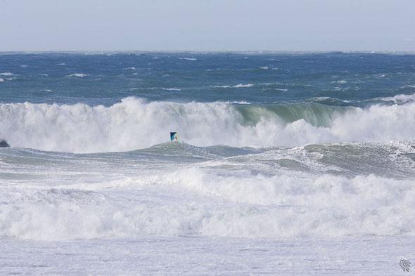 Février 2014 pendant Thomas Traversa remportait le storm chase en Cornouailles.