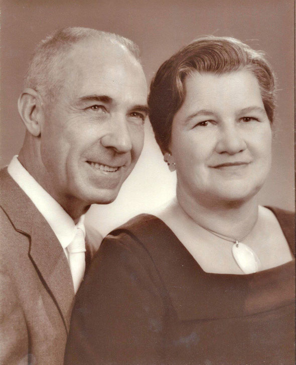 Martha's Parents:  George and Irene McNish probably early 50s