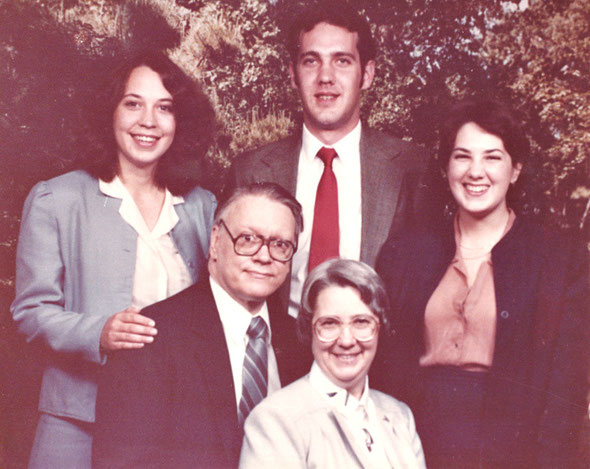 Cuneo Family - front : Martha; Roger; Back left to right: Julianne, Steven, Pamela