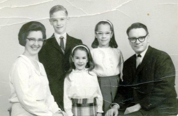 Front:  Martha, Pamela, Roger.  Back:  Steven, Julianne