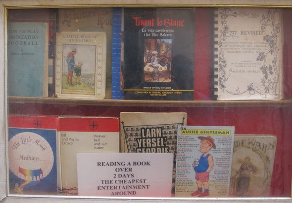 Palma de Mallorca, The English Bookshop Display Window