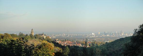 Panorama Ansicht vom Taunus aus