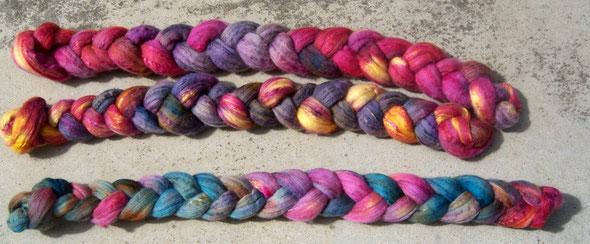 handgefärbte Wolle-Seidemischung