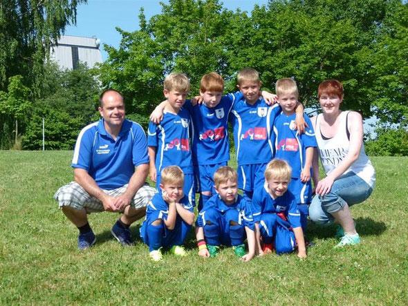 Für den SV Unterweissach spielten: Noah Klitzing (2 Tore), Elias Wild, Ruben Porsche, Tin Wist, Leo Bauer, Hannes Schiring, Julian Weiß (2)