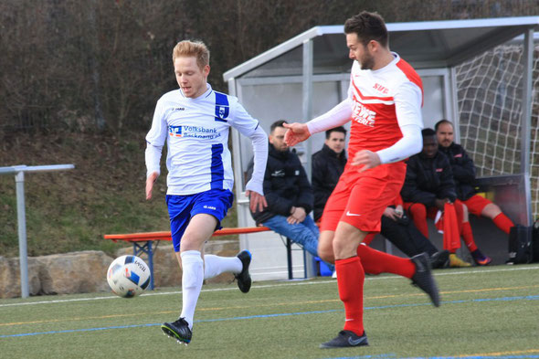 Traf zur 1:0 Führung des SVU. Rückkehrer Simon Lindemann. Foto: Andrea Wahl