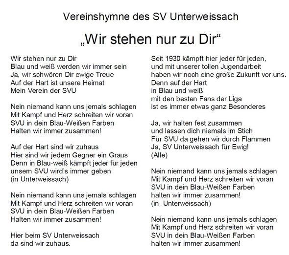 Text Vereinshymne