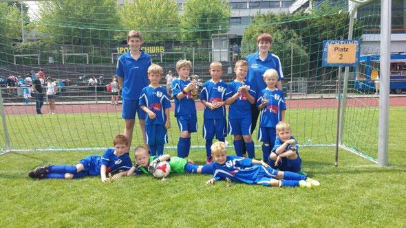 Für den SV Unterweissach spielten: Noah Klitzing (4 Tore), Leo Bauer, Phillip Kunze, Robin Helbig, Hannes Schiring, Marvin Kunz (3), Ruben Porsche, Julian Weiß (2), Tin Wist