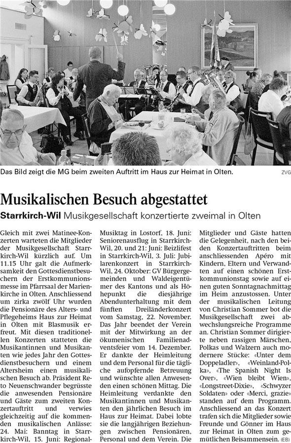 Oltner Tagblatt 30.4.2014
