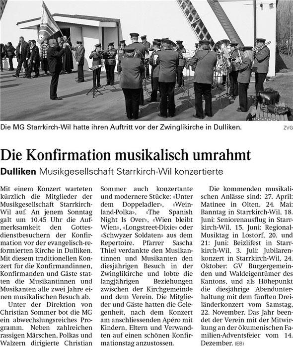 Oltner Tagblatt 17.4.2014