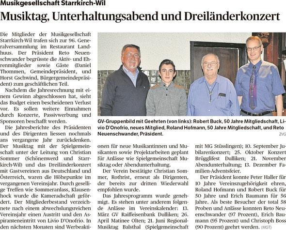 Oltner Tagblatt 12.3.2015