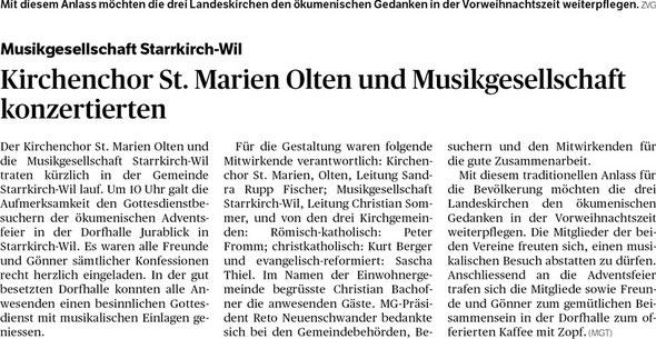 Oltner Tagblatt 17.12.2014