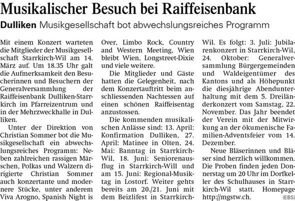 Oltner Tagblatt 20.3.2014