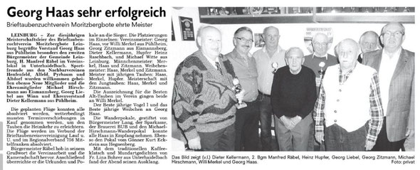 Siegerehrung am 5. 11. 16 in Unterhaidelbach