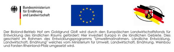 Hinweis zur Förderung durch Europäischen Landwirtschaftsfonds