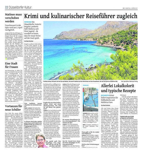 Westdeutsche Zeitung, Düsseldorfer Kultur, 4. März 2017