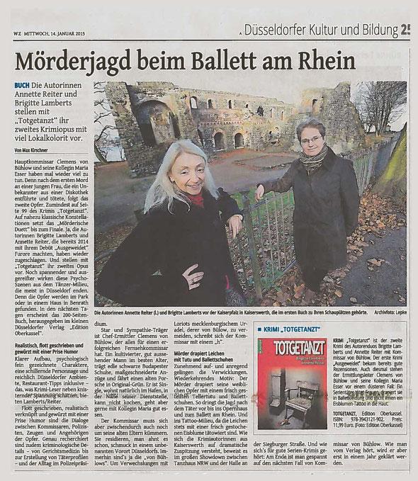Westdeutsche Zeitung vom 14.01.2015, Ausgabe Düsseldorf, Kulturteil