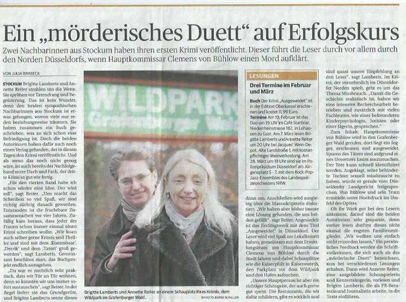 Rheinische Post vom 17.02.2014, Ausgabe Düsseldorf, Wechselseite Stadtteile