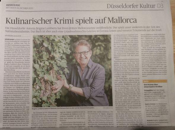 Rheinische Post, Düsseldorfer Kultur, Ausgabe vom 16.10.2020
