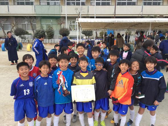 双葉台カップ5年生大会 第3位 2017.1.29 Bチーム