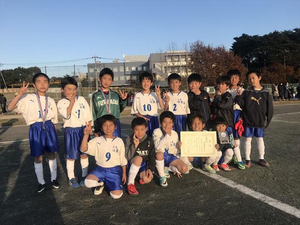 2017.12.2 伊奈カップちびっ子サッカー大会 第4位