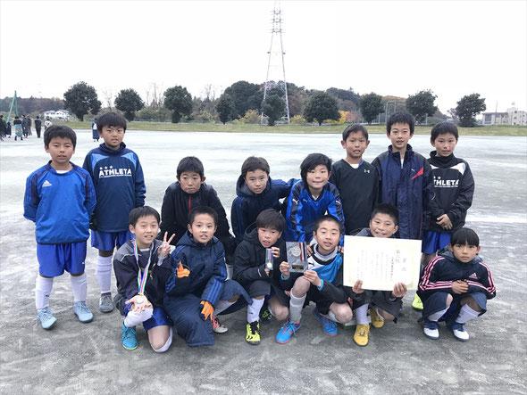 2018.12.2 伊奈サッカー招待 伊奈CUP4年生大会 第3位