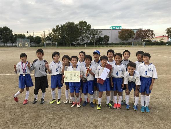 2018.11.11 久喜本町クラブ招待 いちょう杯4年生大会 準優勝