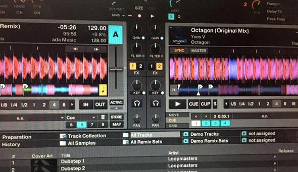 DJ Takas-Heroがパソコンで作曲をしている画面