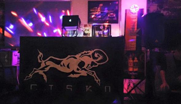 DJ Takas-Heroが入る予定のDJブース