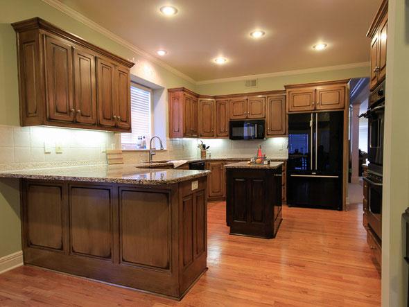 Kansas city cabinet refinishing faux finishing faux wood for White enamel kitchen cabinets