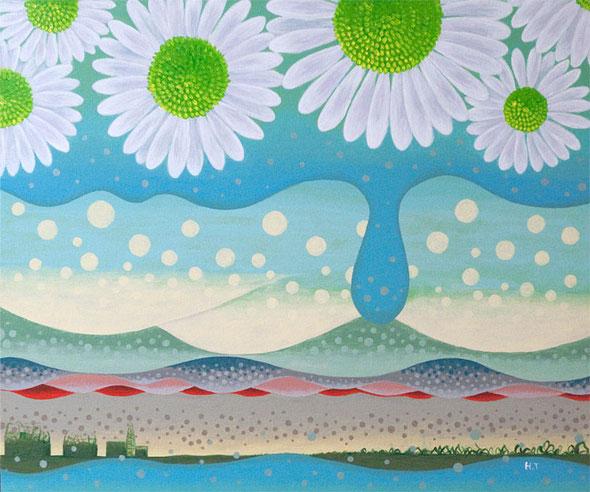 「浄化」 キャンバス F8 / 38.0×45.5cm アクリル トロント・アートフェス出展作品