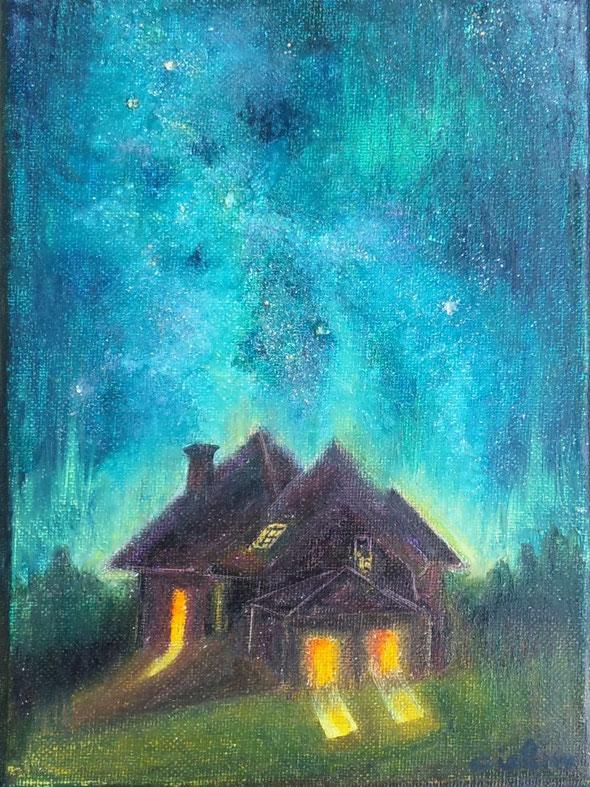「星降る夜の物語」23×16×2cm
