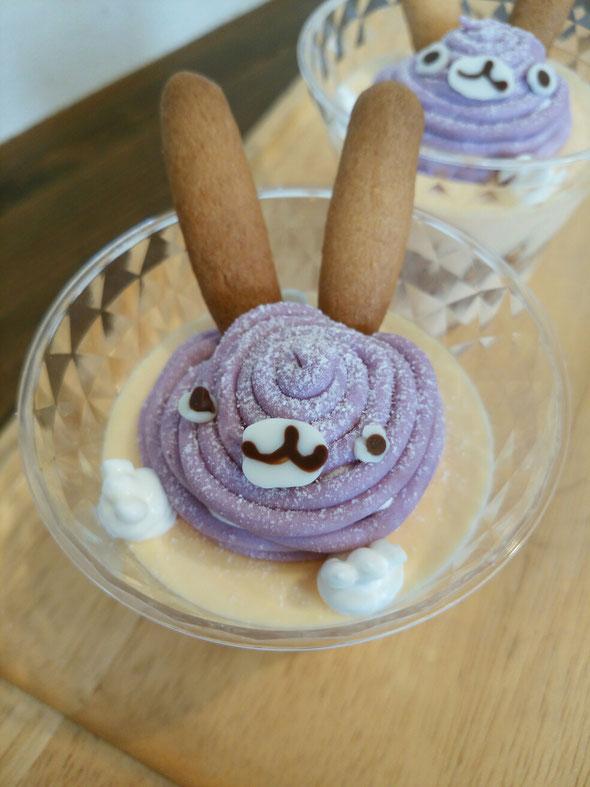 紫イモのモンブラン