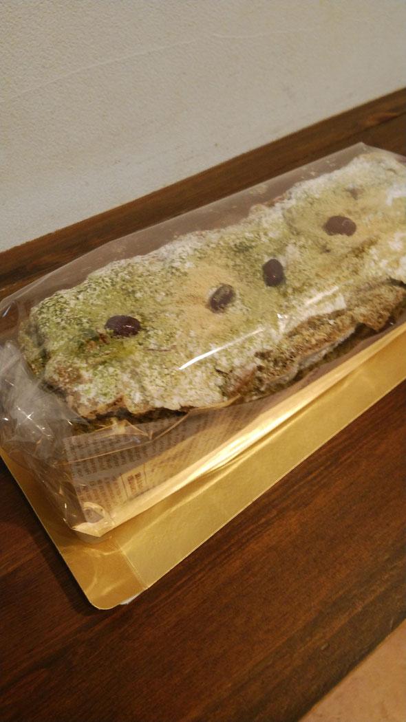 抹茶ときな粉の生パウンドケーキ