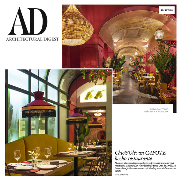 """Publicación de fotografías para restaurante """"Chic y Olé"""" en AD."""