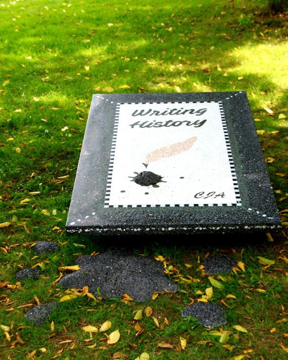 """Terrazzo kunstwerk """"Writing History"""" gemaakt voor de Expositie """"een bunder letteren"""""""