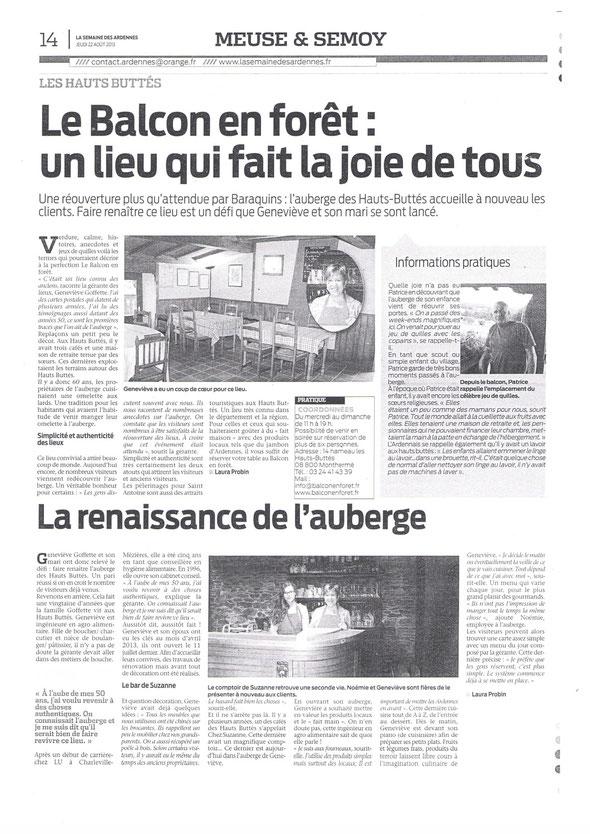 La semaine des Ardennes 22 aout 2013