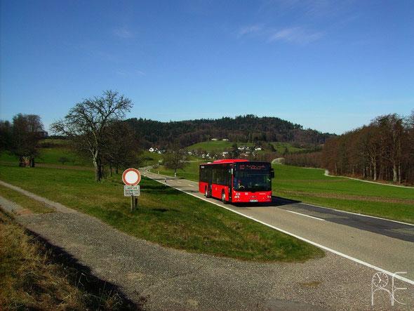 KA-SB 392 war am 20.03.2014 auf Kurs 113 015 unterwegs vor der Kulisse von Althof und dem Mahlberg.
