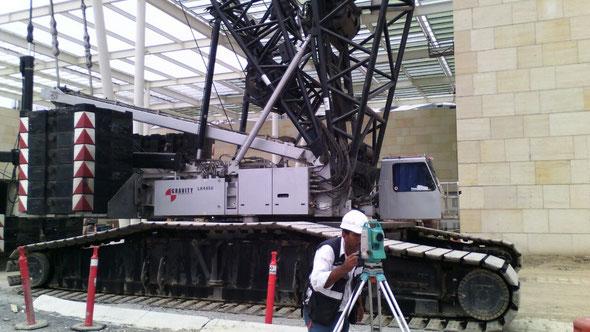 Topografia garza laser cad en City Center Monterrey - Topografia de Precision -