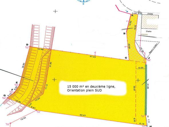 Terrain à bâtir 40 landes monget 15000m²