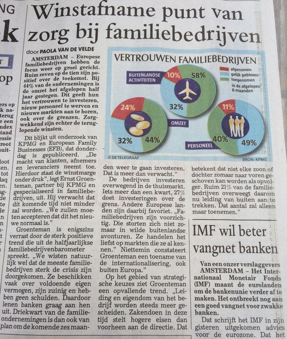 Winstafname punt van zorg bij Familiebedrijven -Telegraaf-